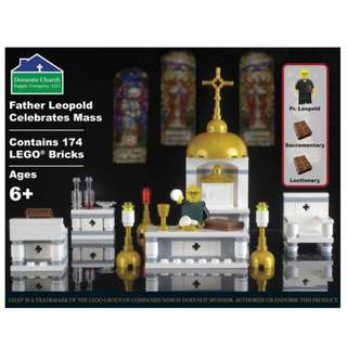 Father Leopold Celebrates Mass Lego