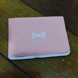 蝴蝶結卡夾 名片夾 粉紅色