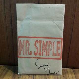Super Junior MR.Simple 周邊小卡