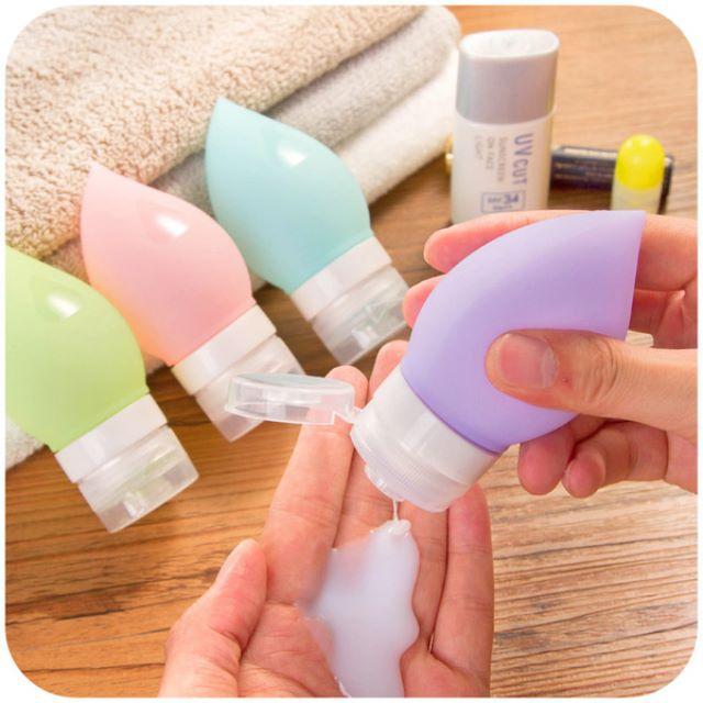 (4入價)矽膠裝乳液分裝瓶子75ml 便攜型