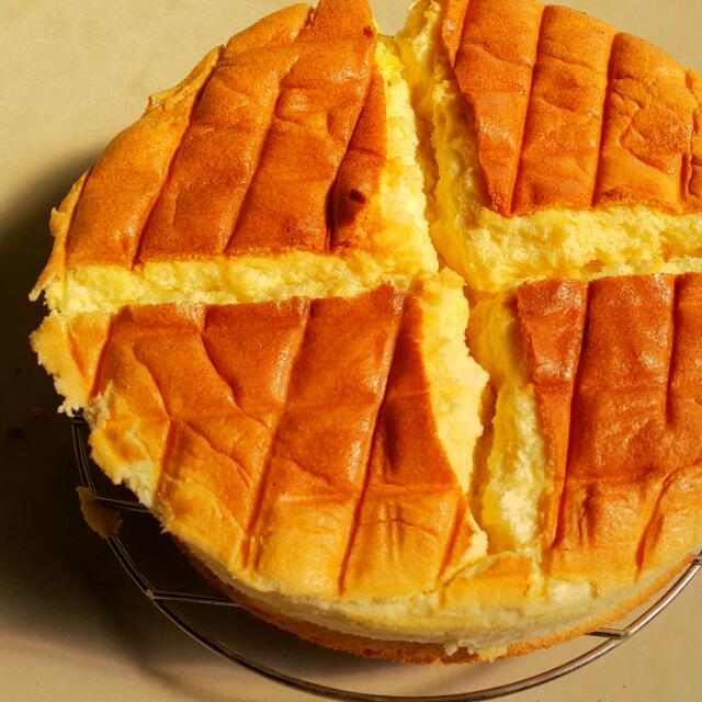 手工原味戚風海綿蛋糕