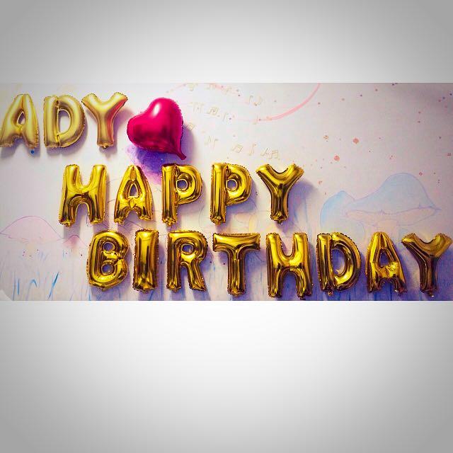 生日快樂氣球