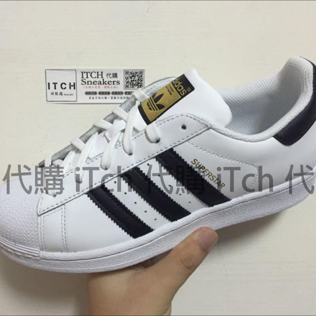 Adidas Superstar J 黑白 金標