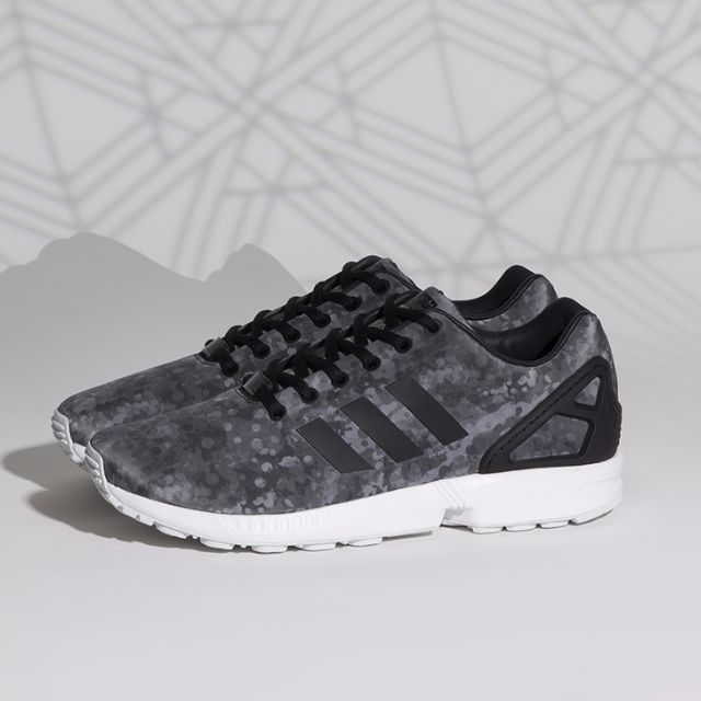 the latest 9dc8a 5a96b Adidas Zx Flux x WHITE MOUNTAINEERING Camo Dark grey, Men s Fashion ...