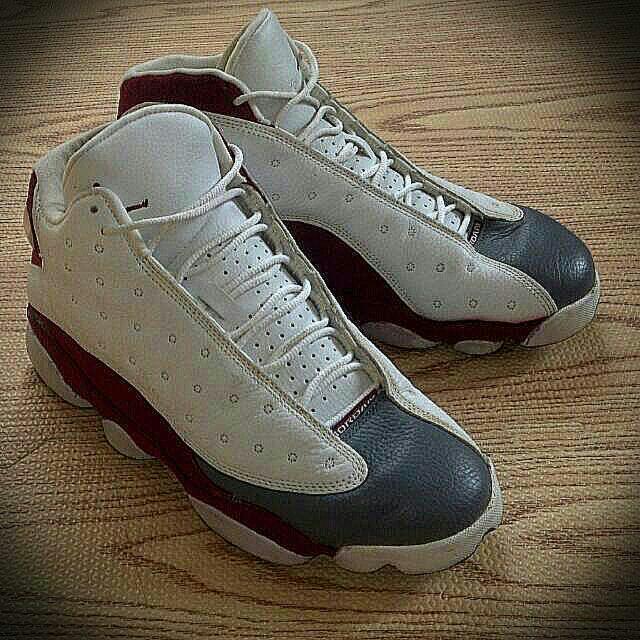 Air Jordan 13 絕版稀有 紅白灰 Aj