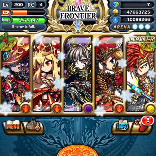 Brave Frontier(high Tier Account ) With A lot Of Good Units