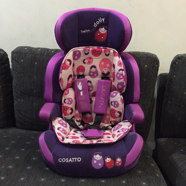 Cosatto Hello Dolly Zoomi Car Seat Booster Group 123 Purple Doll Uk Child Restrain Baby Chair Children Kid Kids Toddler Infant Babies On