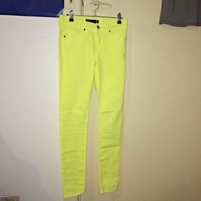 Fluoro Yellow Jeans