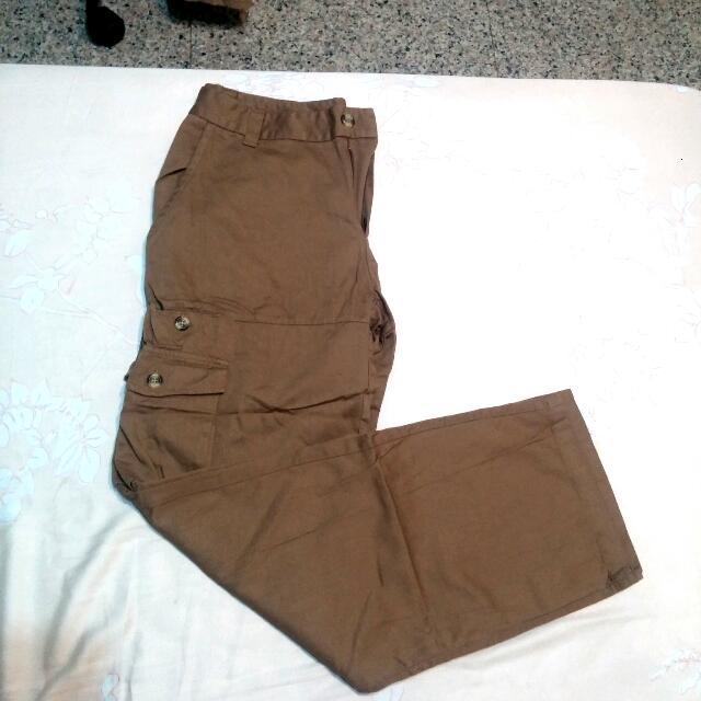 Galoop 棕色工作長褲