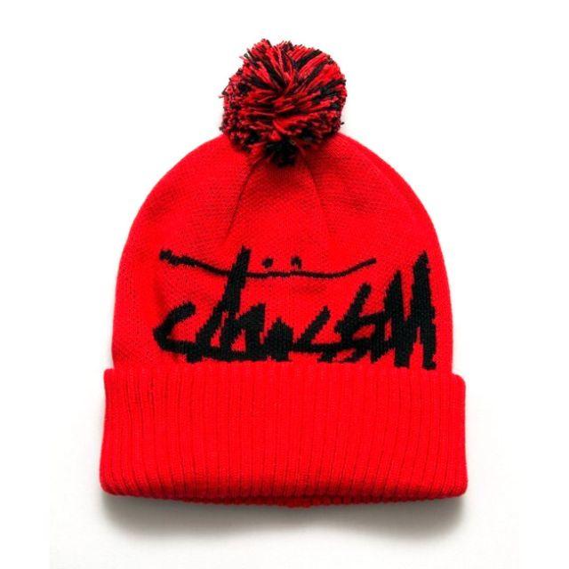 eb4fdec1e33 Instock Stussy Red Pom Beanie Winter Cap Hat Caps Hats