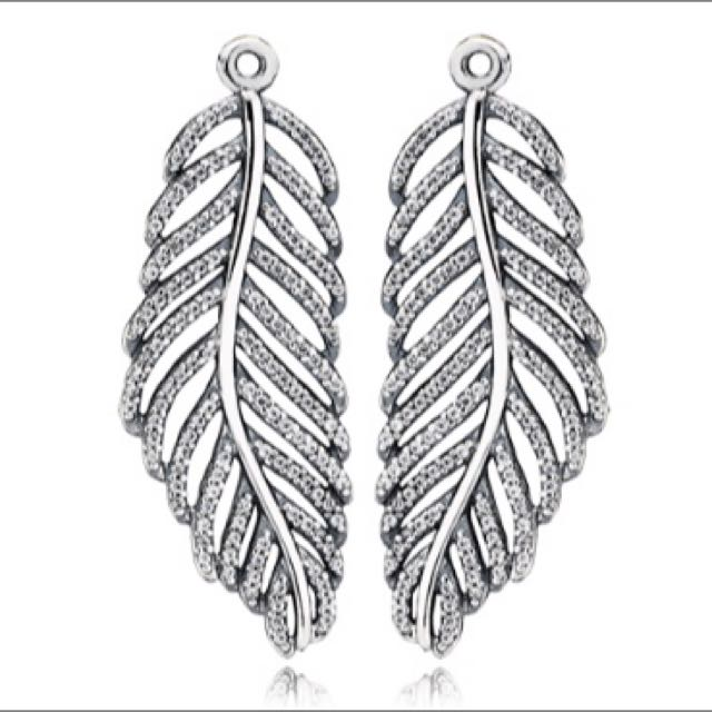 Pandora Feather Earring Pendant