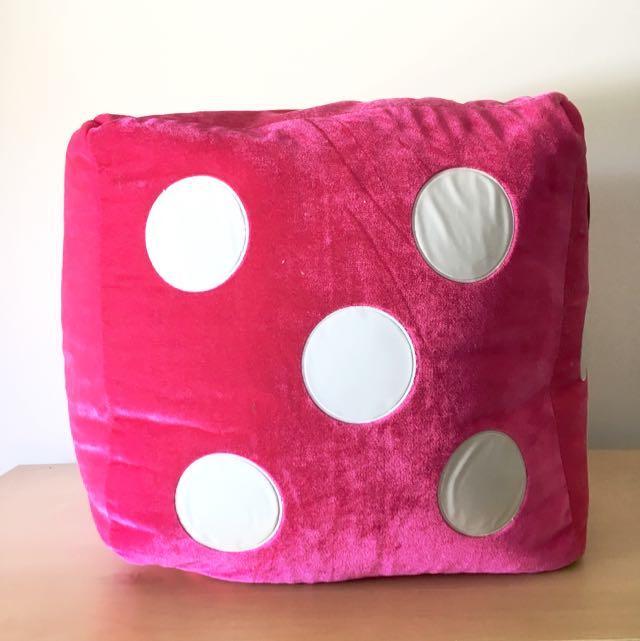 Pink Dice Soft Plush