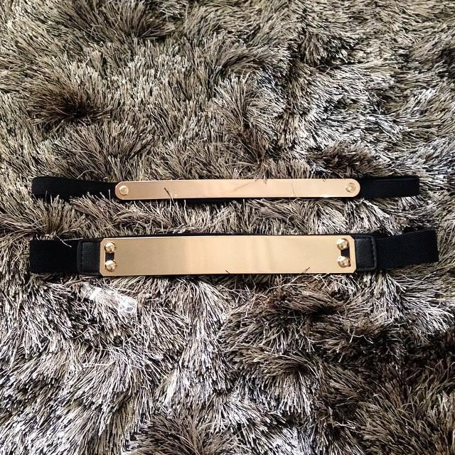 Slim Gold belt & medium gold belt
