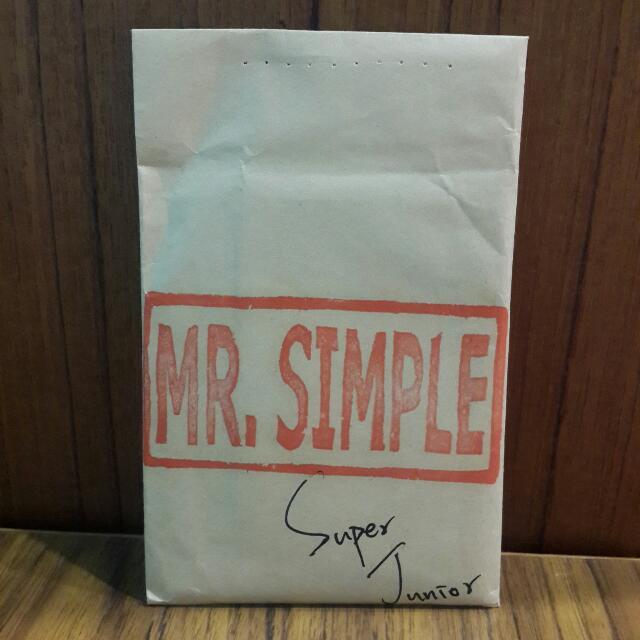 Super Junior MR.Simple 周邊小卡