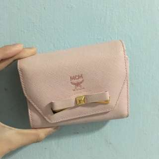 MCM Pale Pink Bow Wallet