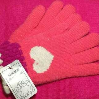 全新!!!暖冬手套圍巾組