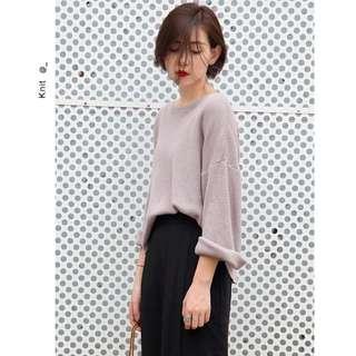 『關乎』秋冬必備好搭純色寬鬆針織衫4色