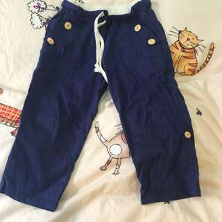 正韓 休閒褲童褲 可反折當7分褲