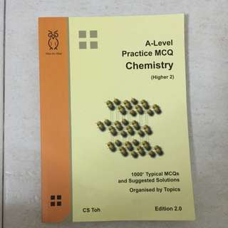 H2 Chemistry A Level Practice MCQ By CS Toh