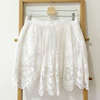 Lace Skirt From Zara