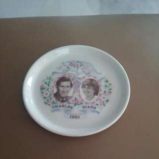 Diana And Prince Charles Plate