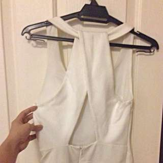Further Markdown Zara Trafaluc White Dress With Crossback