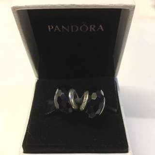 Pandora - Black Faceted Glass Charm