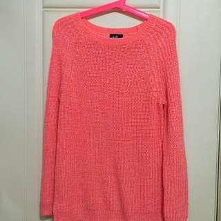 澳洲品牌 Dotti 粉橘針織衣