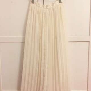 H&M Chiffon Pleated Skirt Maxi