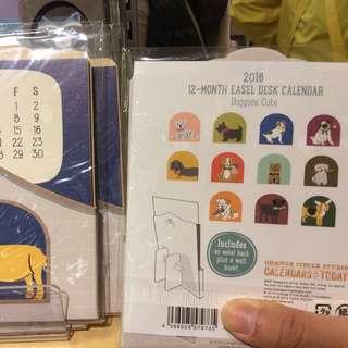 可愛的日本狗狗桌曆