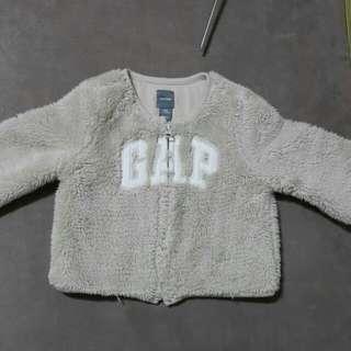 二手 Baby  Gap 毛絨絨logo 外套