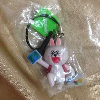 轉蛋 扭蛋 Line 兔兔 耳機塞 吊飾
