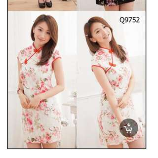 Pretty And New Floral & Lace Cheongsam (cny)