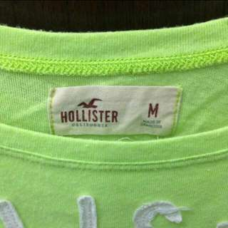 Hollister美國海鷗 HCO 寬領 圓領 螢光 短袖t T恤