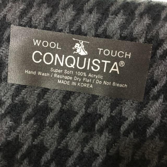 韓製千鳥格圍巾-共二色