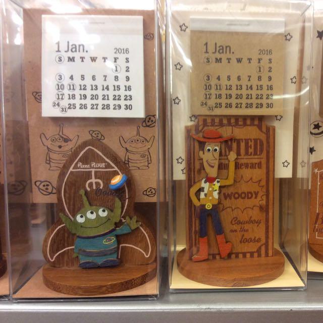 迪士尼可愛木製桌曆
