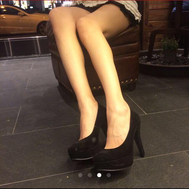 麂皮細跟 高跟鞋