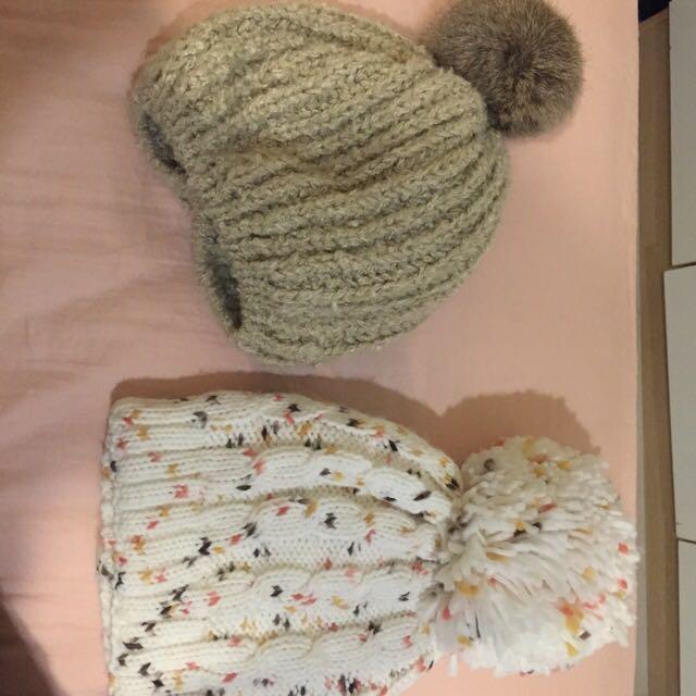 毛帽 兔毛 針織