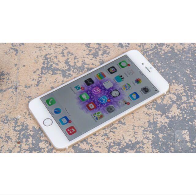台灣公司貨 品相漂亮 蘋果 Apple iPhone 6 Plus 金 64G (完整盒裝) 送名牌殼