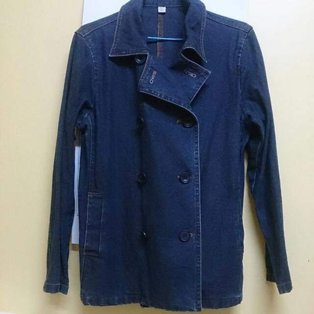 單寧古著雙排扣外套 國外購回( Zara. Levis. H&M. Gap. 可參考