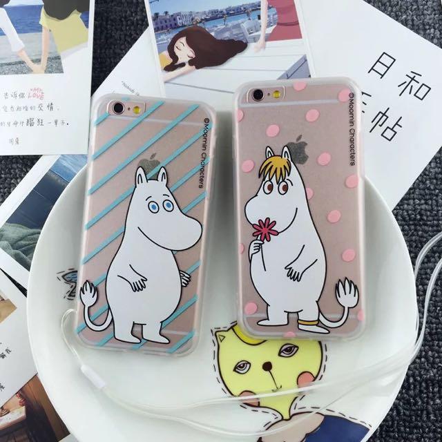 嚕嚕米❤️粉嫩全包邊軟殼 iPhone5/6/6plus 僅售$200含運