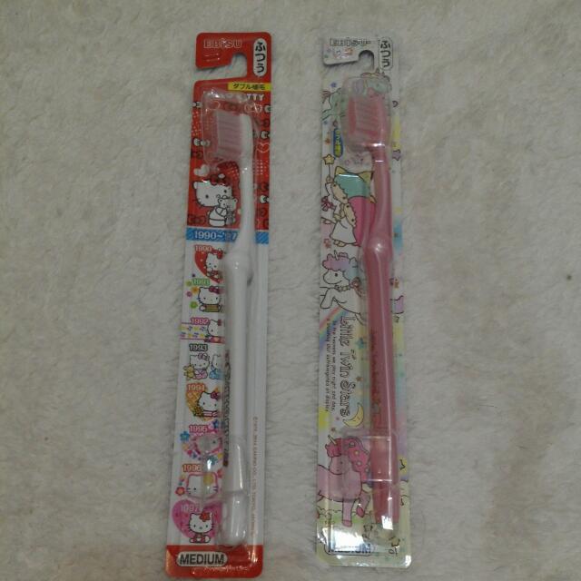 [日本帶回] Sanrio三麗歐 Hello Kitty Melody美樂蒂 日本製 牙刷