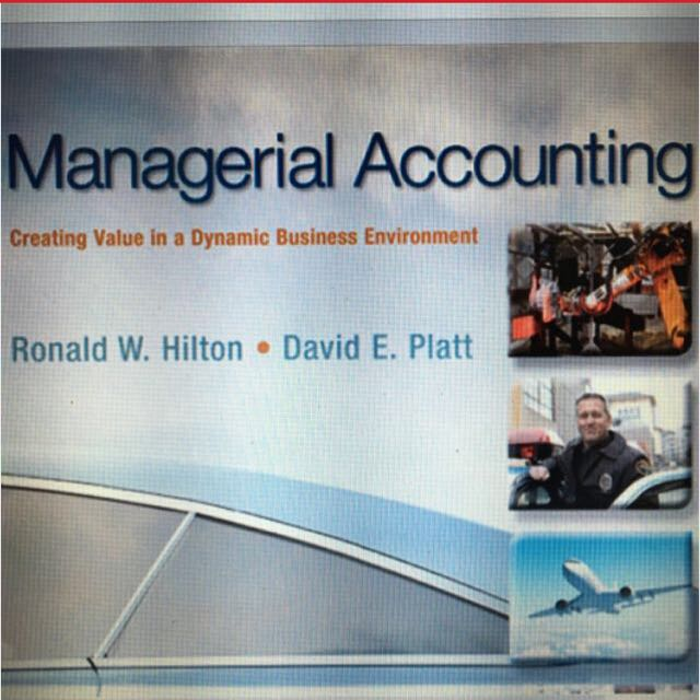 ACC2002 Managerial Accounting