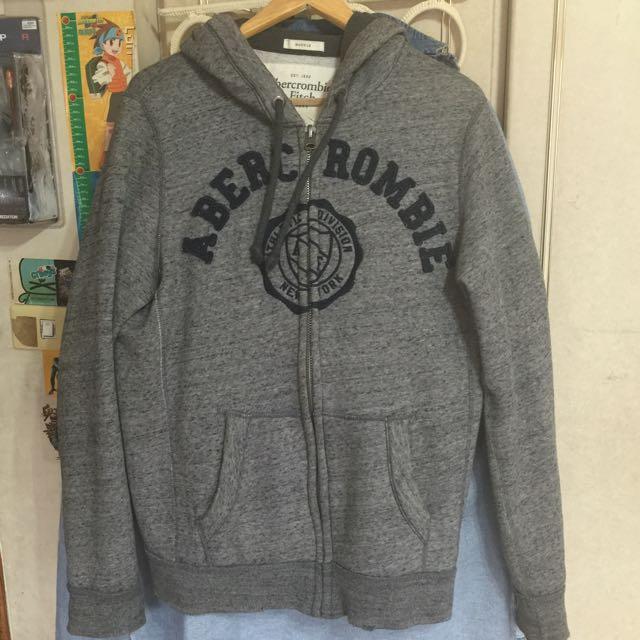 [二手]A&F男版刷毛厚棉外套