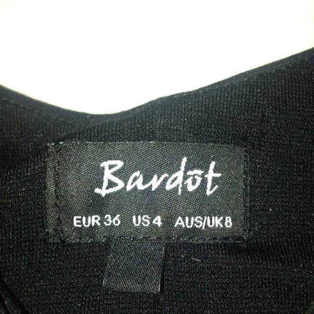 Bardot black crop top