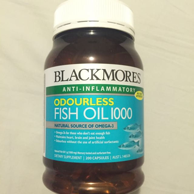 澳洲🇦🇺深海魚油🐟(無味)含郵!Blackmores Fish Oil 1000 mg 200顆