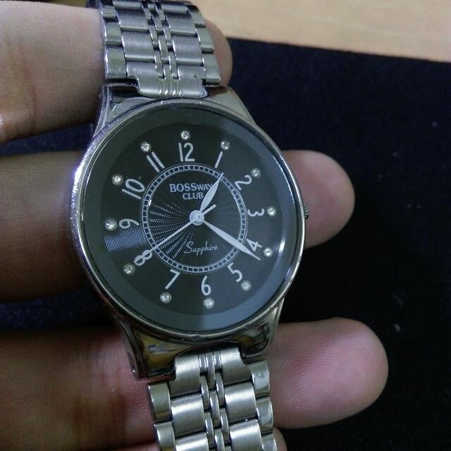 (二手)BOSSWAY 優雅個性鎢鋼腕錶(中性) 保留
