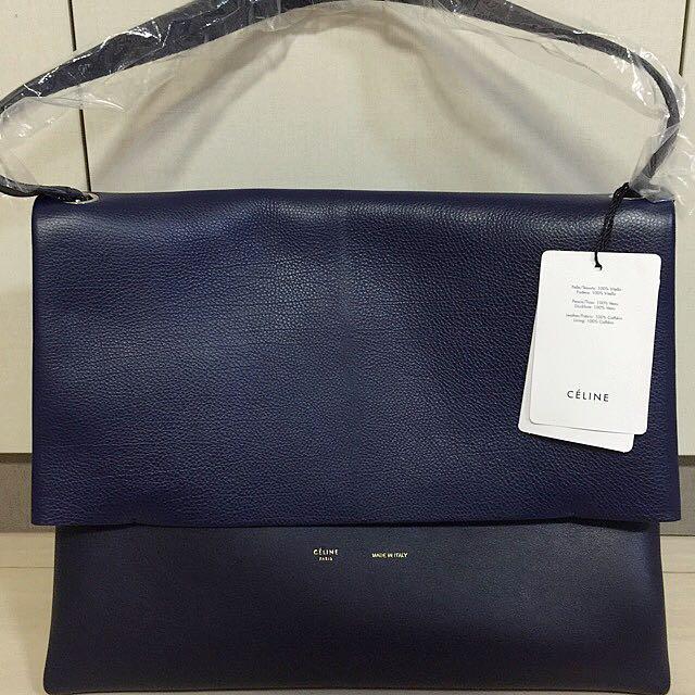 d892829b82 CELINE Ink Baby Calfskin Leather All Soft Shoulder Bag