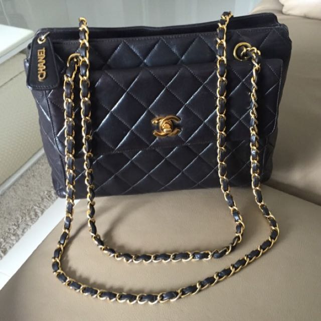 Sold Chanel Classic Cc Turnlock Jumbo Tote In Black Quilted Lambskin And Shiny Ghw A Elegant Everyday Bag Luxury On Carou