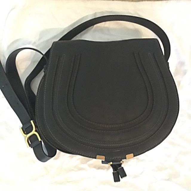 414a96fa3b2 Chloe Marcie Medium Leather Crossbody Bag, Black, Luxury on Carousell